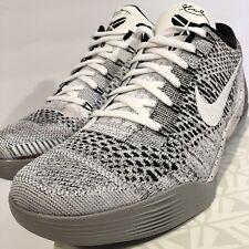 db87c5393e22 Nike Zoom KOBE IX 9 ELITE LOW BEETHOVEN WHITE BLACK WOLF GREY 639045-101 sz  11