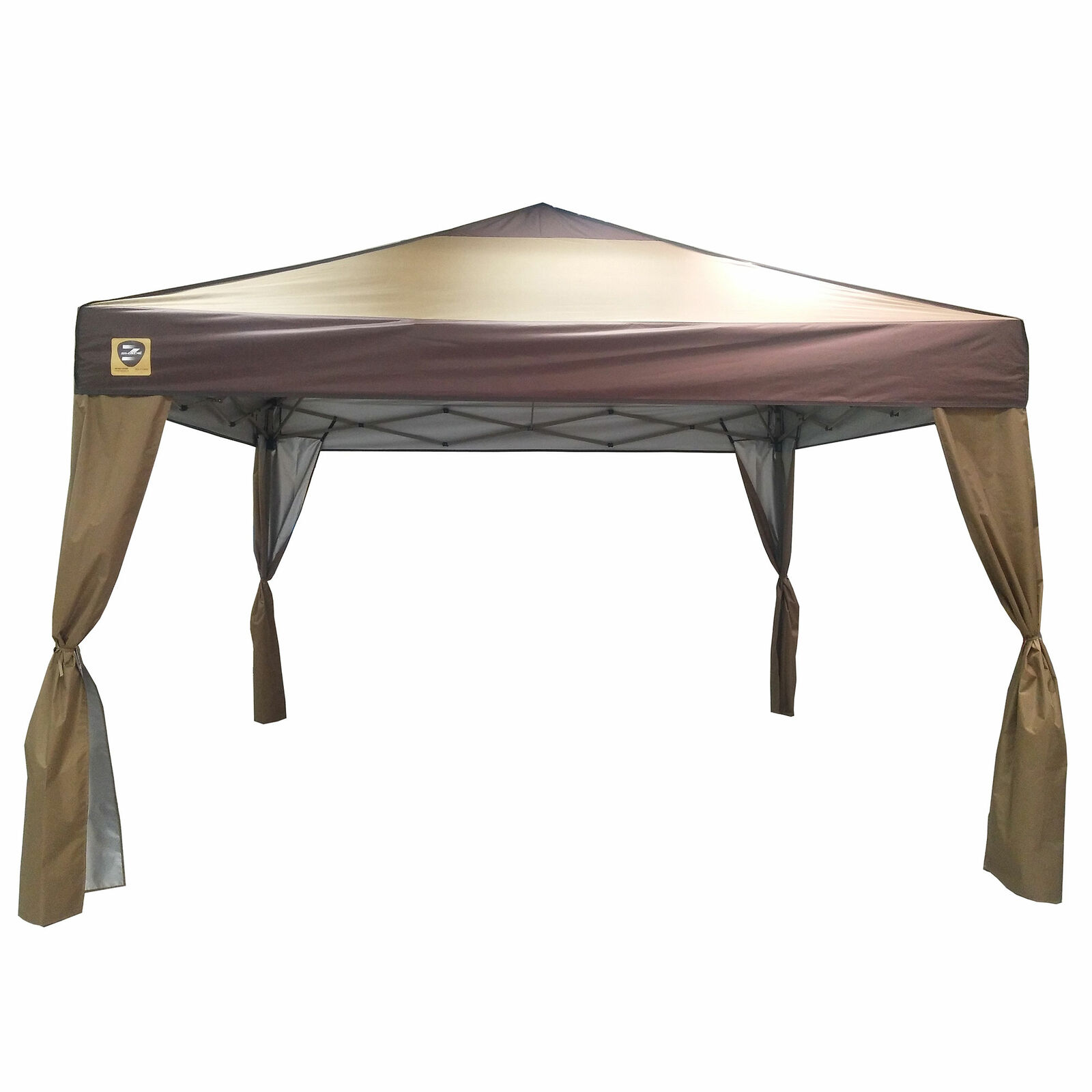 Z-Shade 10 x  10 Foot Lawn and Garden Outdoor Portable Canopy with Skirts, Tan  shop clearance