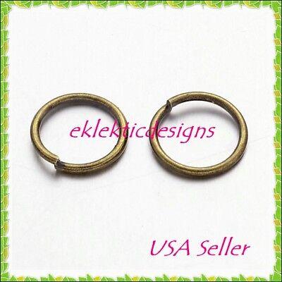 7mm 50pcs Antique Brass Bronze Jump Rings Jewelry Findings Open Split Earrings
