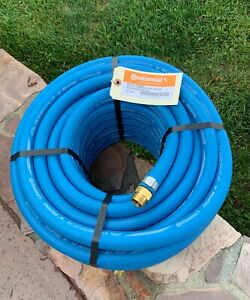 """BLUE  Rubber Water Hose 3/4""""x50' Continental Formerly Goodyear Made  USA"""