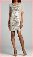 BCBG MAXAZRIA LEHANA CINDER COMBO SEQUINED SHIFT DRESS S NWT $348-RackT/66