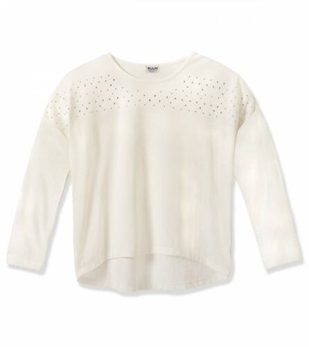 NWT Ruum Girls Size Medium 10 Large 12 Long Sleeve Rhinestone Dolman Top Shirt