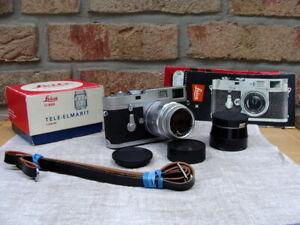 Leitz-Wetzlar-Leica-M2-Kit-Fat-Tele-Elmarit-2-8-90mm-034-Serviceziert-034-Top