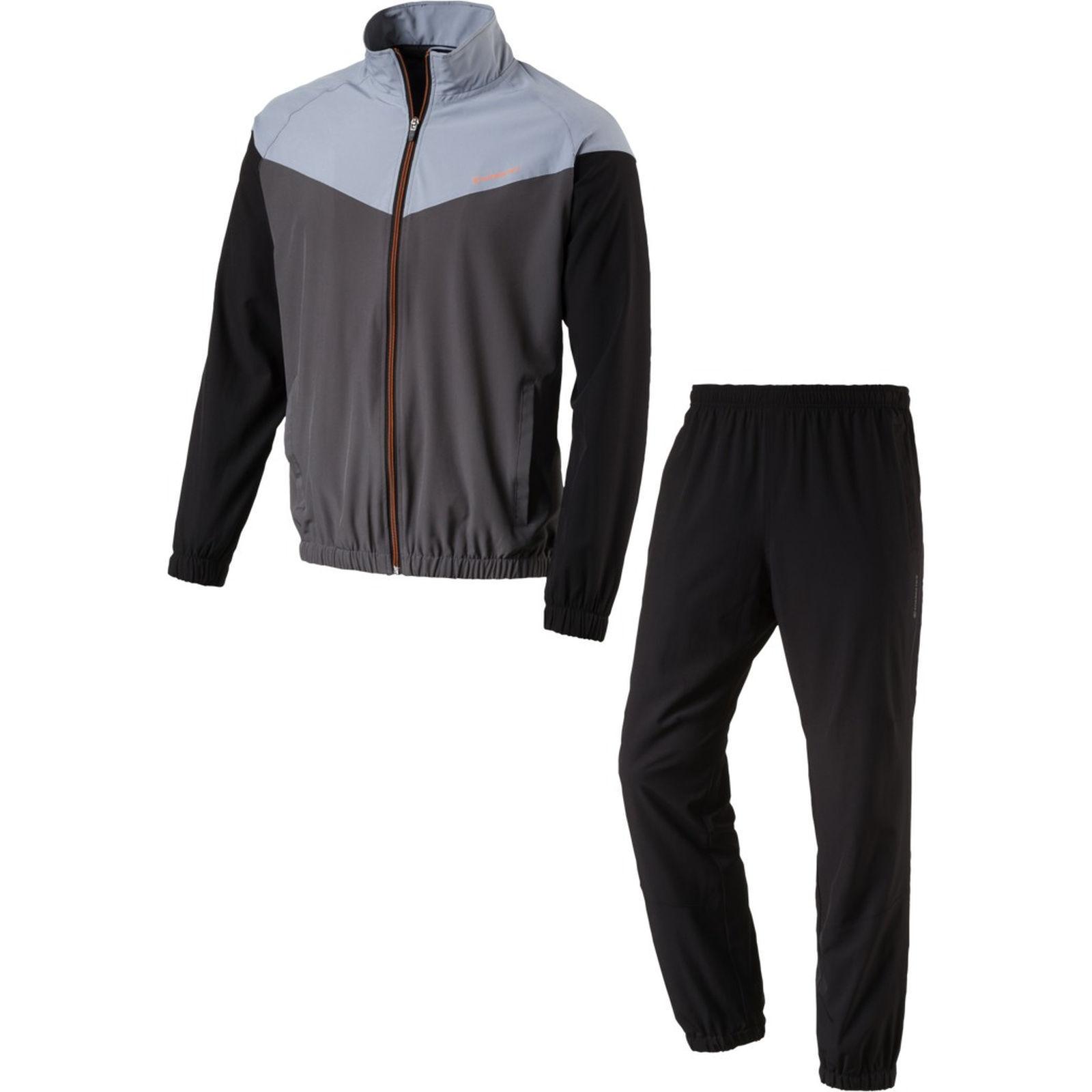 Energetics Herren Trainingsanzug FINLEY + FLO  grau schwarz Kurzgrößen