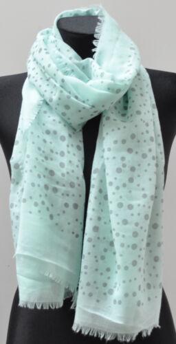 XL Silk Seidenschal Schal Langschal Halstuch Tuch Damen Fransen Punkte gross