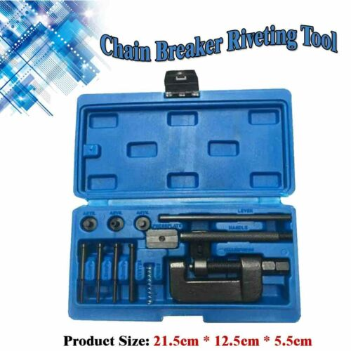 520//525//530//630 Pitch Motorcycle Chain Breaker Set Cutter Rivet Tool US Stock