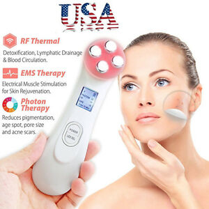 USA-LED-Photon-Face-Skin-Care-Spa-Mesotherapy-Electroporation-RF-Radio-Frequency