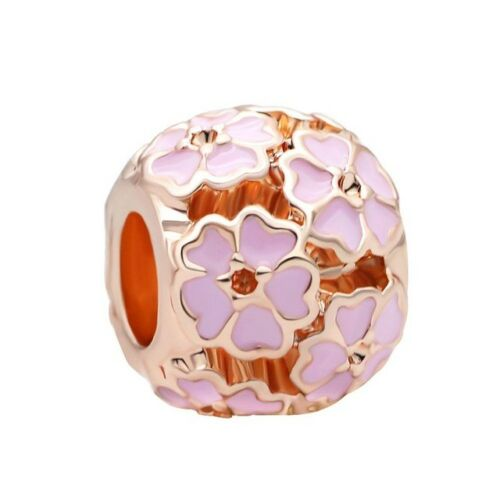 45 Styles New European Or Rose Cz Charm Beads Fit 925 Collier Bracelet Chaîne