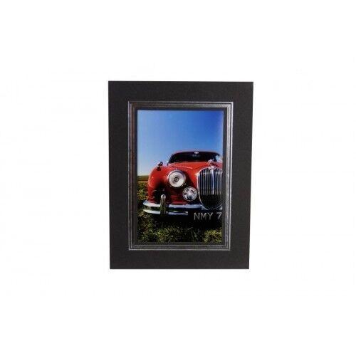 "BNIB 50 Quality Black Strut Mounts for photos Size 5/""x7/"" 13x18cm NEW PM130"