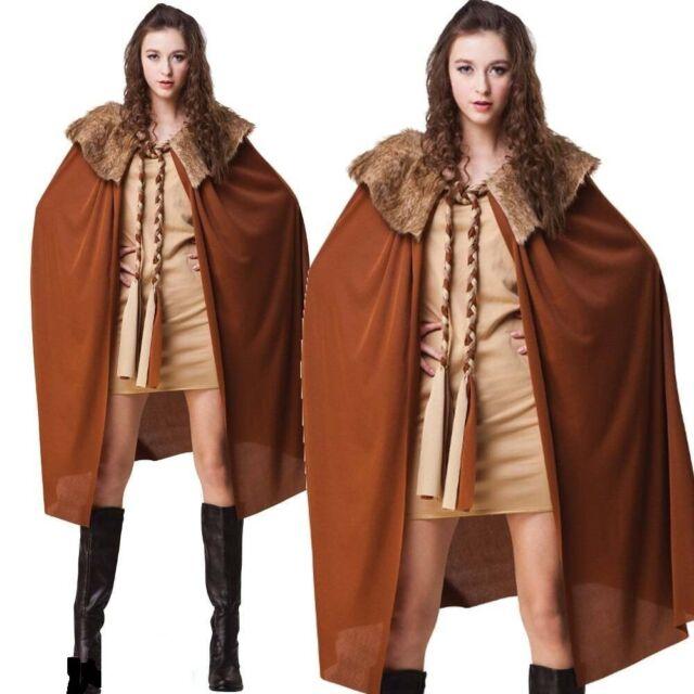 Erwachsene Braun Fell Kragen Umhang Erwachsene Kostüm Zubehör Game of Thrones Wikinger