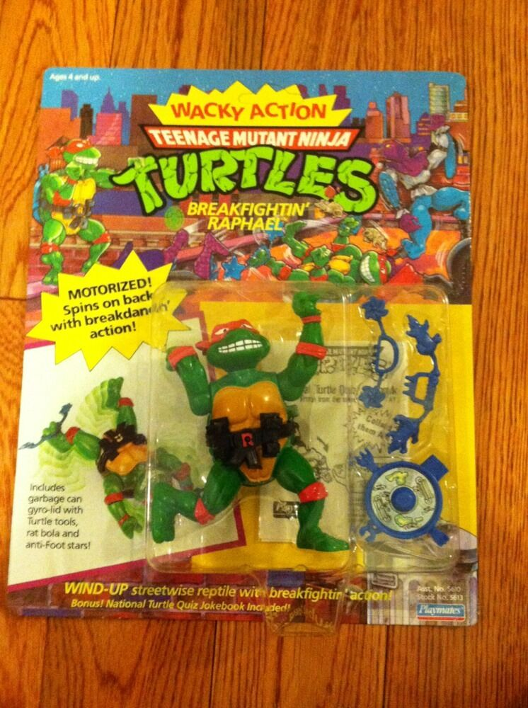 1990's Vintage Tmnt  Tortugas Ninja  Wacky acción Breakfightin Raphael  Moc