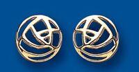 Yellow Gold Rennie Mackintosh Inspired Stud Earrings