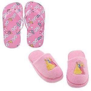 d382407a90b NWT Disney Princess 2-Pc. Slipper   Flip Flop Set 11 12 Girls