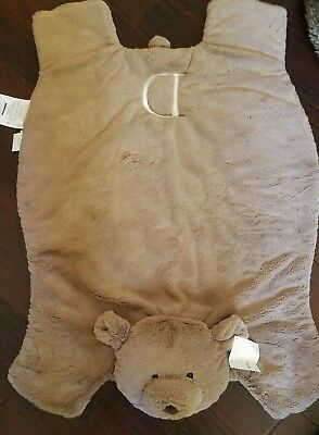 "Motivated New Pottery Barn Kids Plush Brown Bear Baby Playmat Play Mat Monogram ""d"" Special Buy Baby Gyms & Play Mats"
