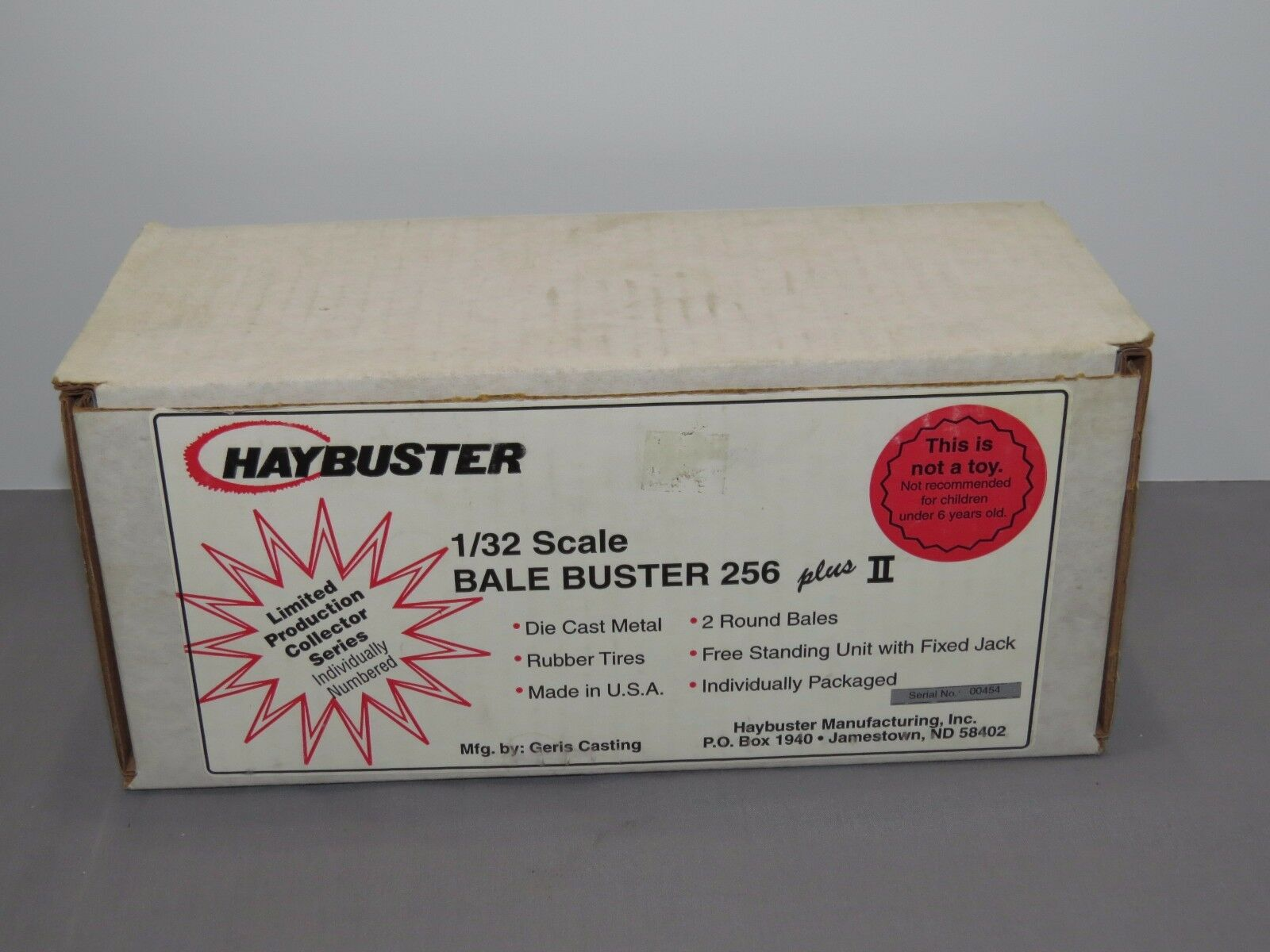 Hay Buster HAYBUSTER 1 32 scale Bale Buster 256 plus II Toy Geris Casting RARE