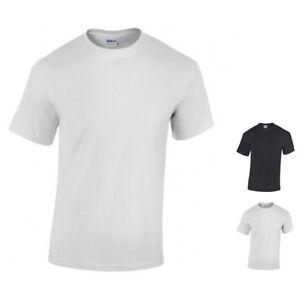 Gildan-10-x-T-Shirt-Herren-Heavy-Cotton-10er-Set-Weiss-oder-Schwarz-bis-5XL