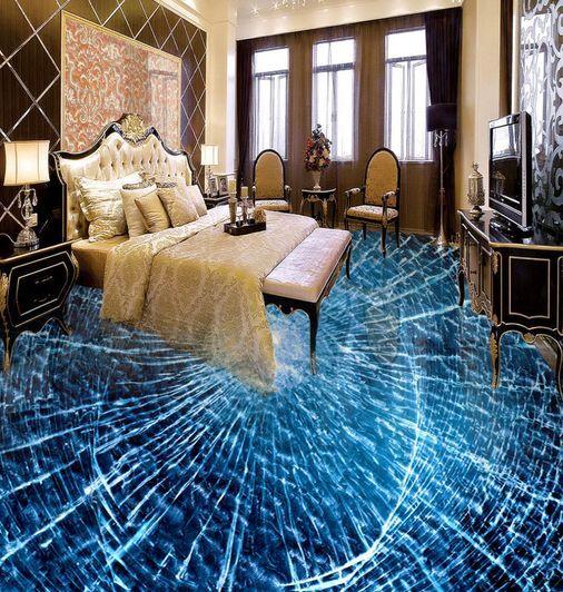 3D Vague 08 Fond d'écran étage Peint en Autocollant Murale Murale Murale Plafond Chambre Art 07734a