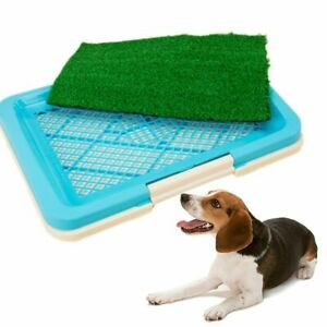 Puppy Potty Trainer Indoor Training Toilet Pet Dog Mat Pee Grass Pad H0I6 P D3P0