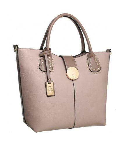 Bessie London Two handled Faux Leather Tote bag Various colours