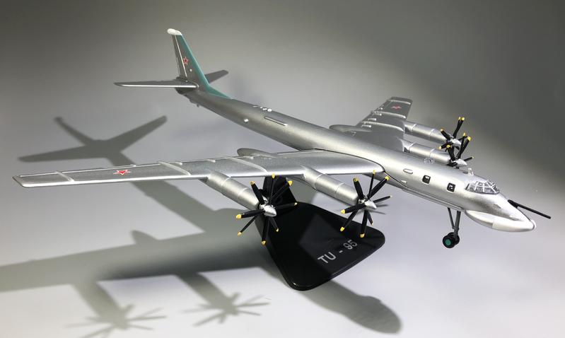 Wltk soviética Air Forces tupolev tu-95 difícil difícil difícil Bomber 1 144 colado modelo 9f0fe0