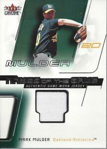 2002-Fleer-Genuine-Names-of-the-Game-Memorabilia-13-Mark-Mulder-Jersey-NM-MT
