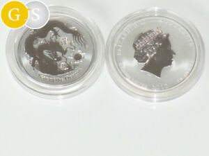 3-x-1-2-Oz-Silber-BU-Lunar-II-Drache-Dragon-2012-Australien-australia-silver