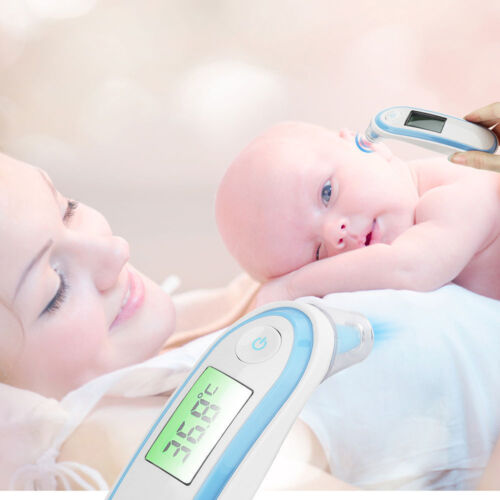 Baby Adult Fever Ear /& Forehead Non-contact Digital Laser Infrared Thermometer