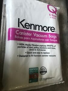 Kenmore-5-pack-HEPA-Vacuum-Bags-for-Canister-Vacuums-Type-Q-53292-New-Freeship