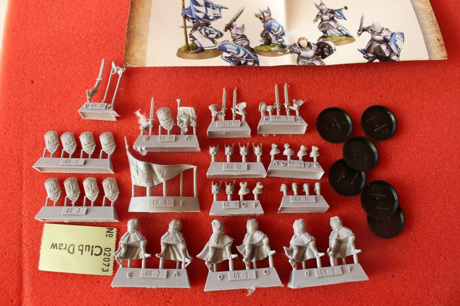 Games Workshop Forgeworld Lord of the Rings Foot Knights of Dol Amredh 6 Models