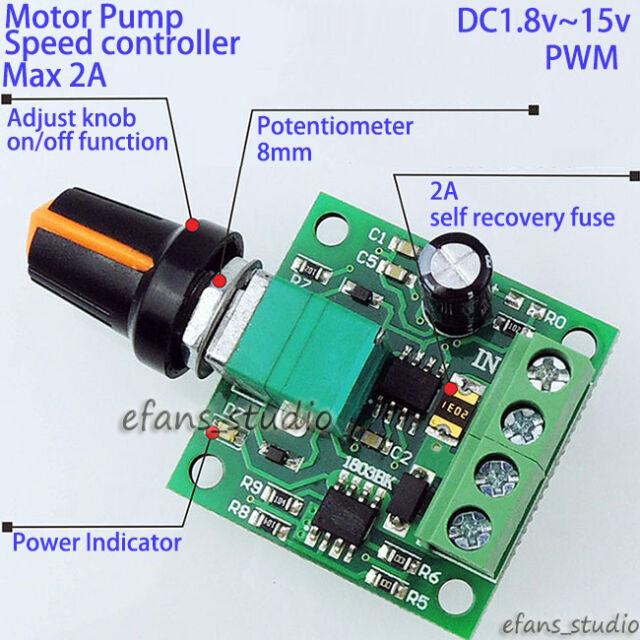 Pulse Width PWM DC Motor Pump Speed Regulator Controller Switch 3v 6v 9v  12v 2a