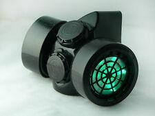 TrYptiX Cyber Goth Steampunk Light Up Gas Mask GREEN LED Burning Man EDC Ultra