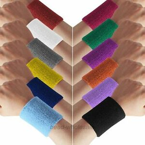 Unisex-Terry-Cloth-Cotton-Sweatband-Sports-Wrist-Tennis-Yoga-Sweat-WristBand