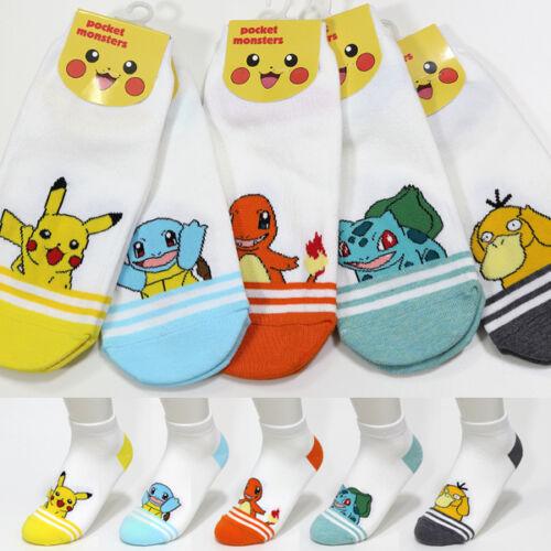 Fashion Socks 5Pairs Pokemon Cartoon Sock Pikachu Friends Unisex Character Socks