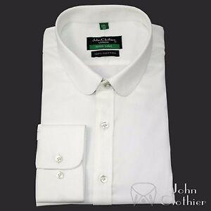 Hombre-Camisa-Cuello-PENIQUE-Algodon-Blanco-Oxford-Steps-Redondo-Club-Verano