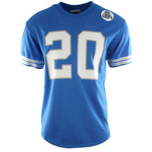 f9a146dbd0f MITCHELL & NESS DETROIT LIONS BARRY SANDERS NAME & NUMBER CREW BLUE ...
