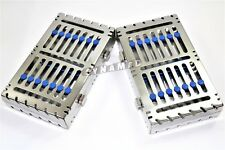 2 Dental Autoclave Sterilization Cassette Rack Box Tray For 7 Instrument German