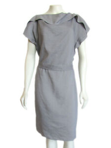 FINAL-MARKDOWN-Escada-Sport-Gray-Ramie-Silk-Blend-Sheath-Dress-sz-10
