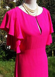 9573ca9dc4c Ossie Clark Designer Evening dress UK 10 pink Wedding Ball Prom ...
