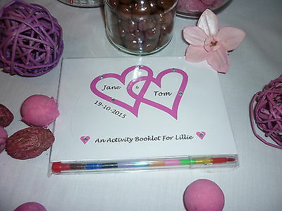 Personalised Childrens Wedding Activity Pack Book Favour Party Bag Gift
