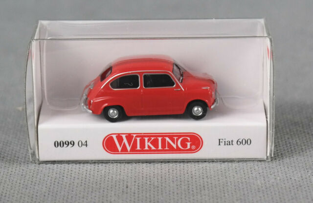 OVP NEU Wiking H0 1//87 009904 PKW Fiat 600 rot