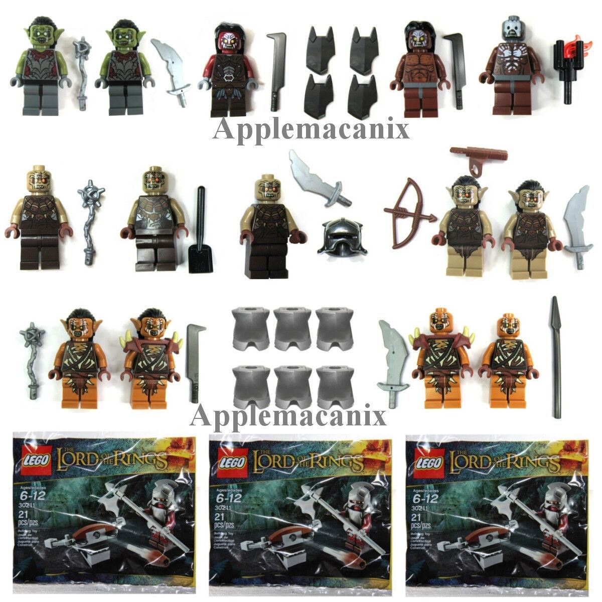 Lego Lord of the Rings Hobbit Figurine Lot Gundabad Mordor La Moria Uruk-Hai Orc
