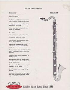 VINTAGE-AD-SHEET-2504-1970s-BUESCHER-MUSICAL-INSTRUMENT-BASS-CLARINET
