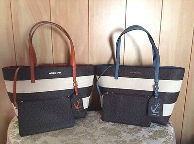 Michael Kors Striped Large East West Tote Nwt Ebay