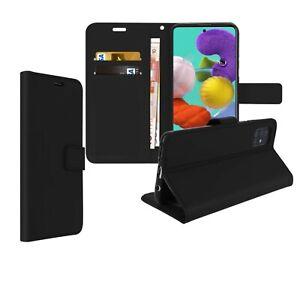 Coque Etui Housse Portefeuille pour Samsung Galaxy A51 -Noir