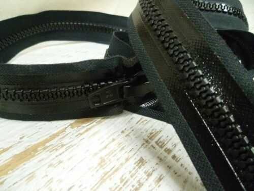 Chunky No.10 Black or White 122cm Open Ended S Lock Waterproof Zipper
