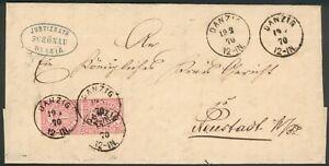 NDP-Brief-Danzig-1870-orig-gelaufen-nach-Neustadt-W-Pr-RARITAT