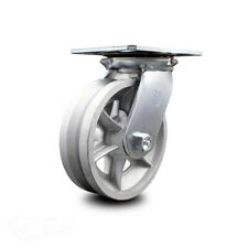 6 Inch Heavy Duty Top Plate V Groove Semi Steel Swivel Caster With Ball Bearing