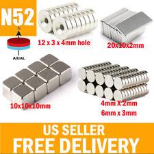 5 50 N52 Super Strong Block Round Hole Hook Fridge Rare Earth Neodymium Magnets