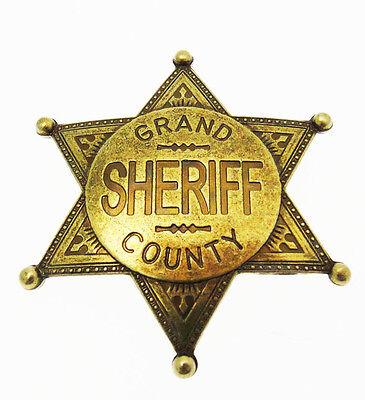 étoile Grand Shérif du comté shérif en métal or + gravure