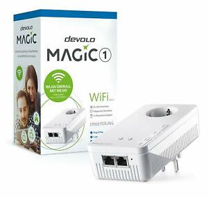 DEVOLO-MAGIC-1-WIFI-AC-Einzeladapter-2-1-1-Powerline-1200-Mbit-MESH-WLAN-2x-LAN